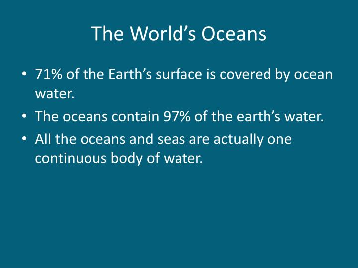 The world s oceans
