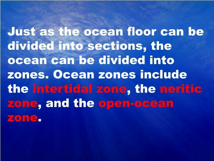 Just as the ocean