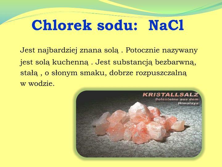 Chlorek sod