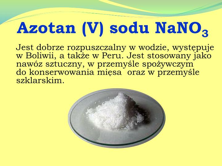 Azotan (V) sodu NaNO