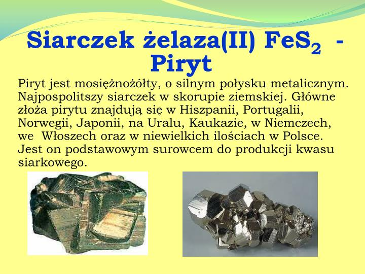Siarczek żelaza(II) FeS