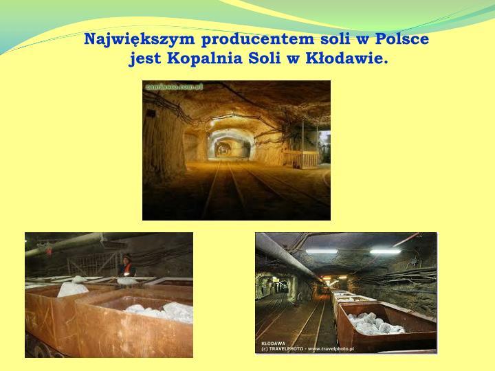 Największym producentem soli w Polsce