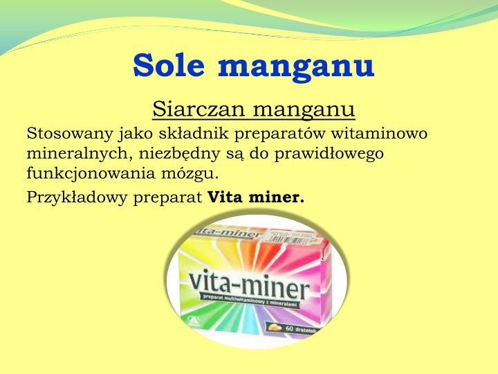 Sole manganu