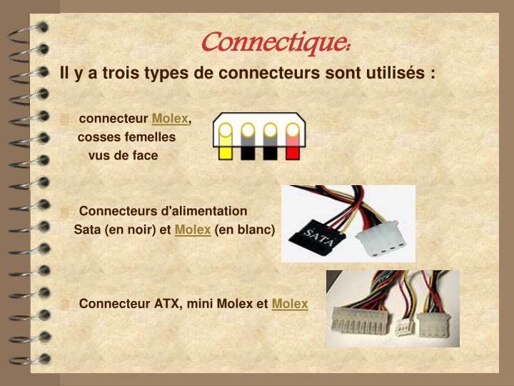 Connectique: