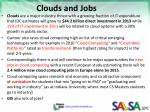 clouds and jobs