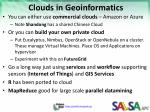 clouds in geoinformatics