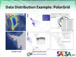 data distribution example polargrid