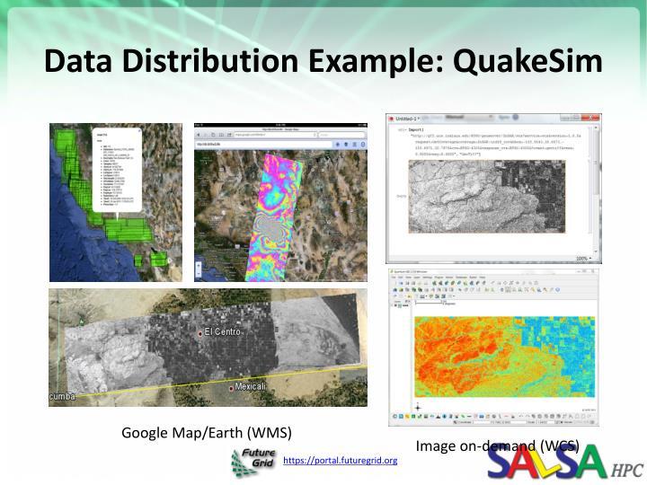 Data Distribution Example: QuakeSim