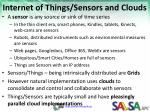 internet of things sensors and clouds