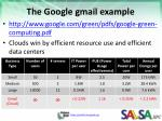 the google gmail example