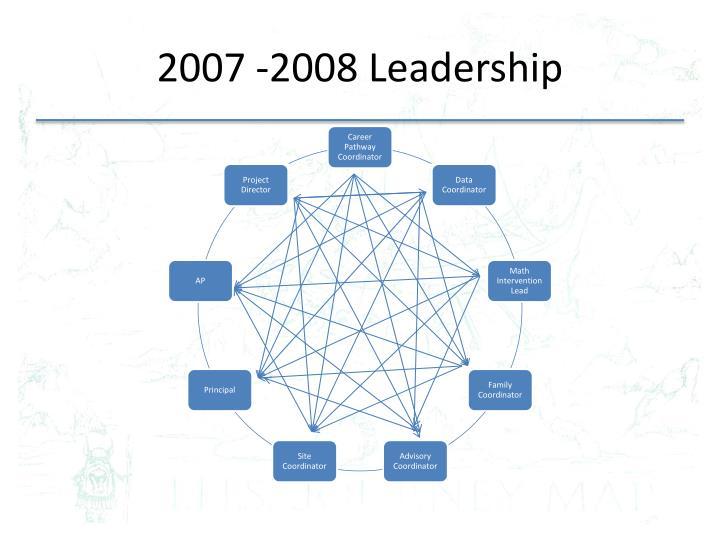 2007 -2008 Leadership