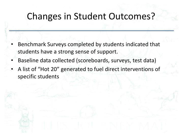 Changes in Student Outcomes?