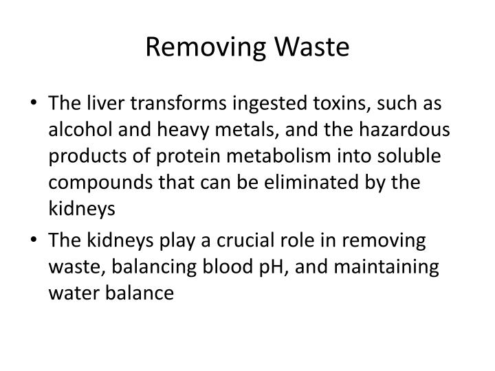 Removing waste