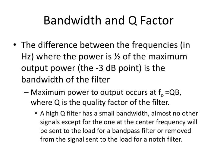 Bandwidth and Q Factor