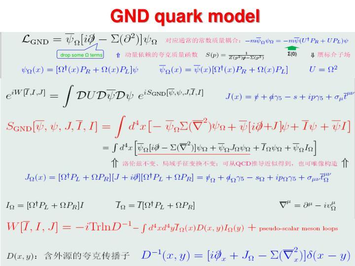GND quark model