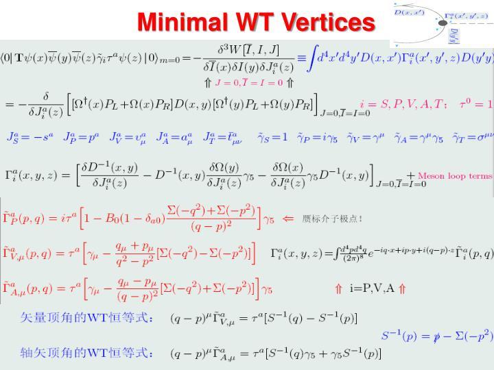 Minimal WT Vertices