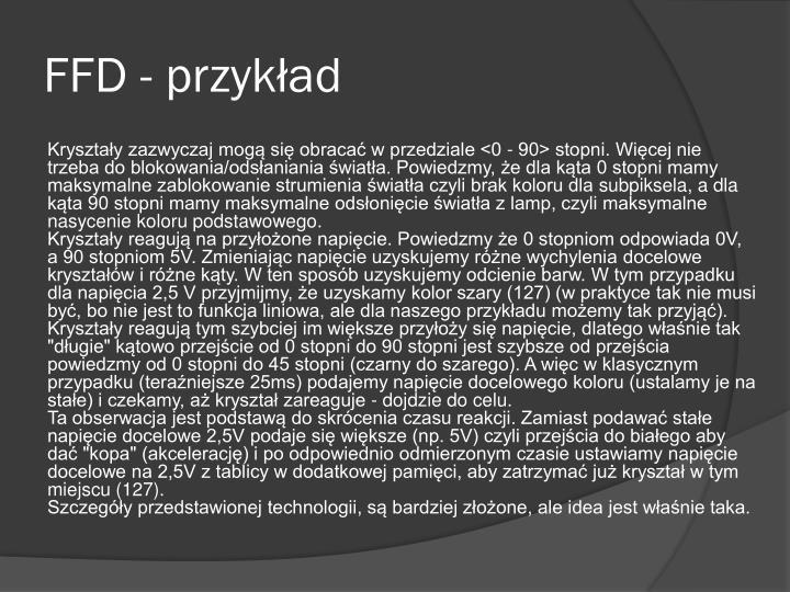 FFD - przykład