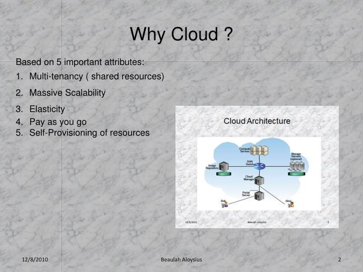Why Cloud ?