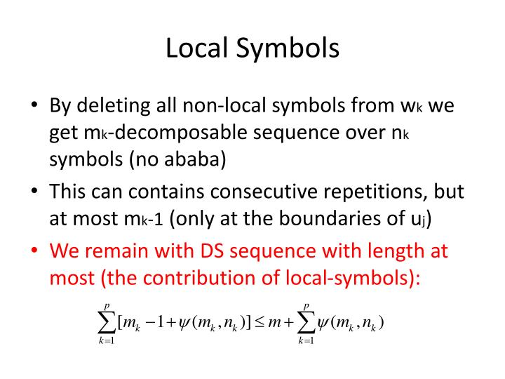 Local Symbols