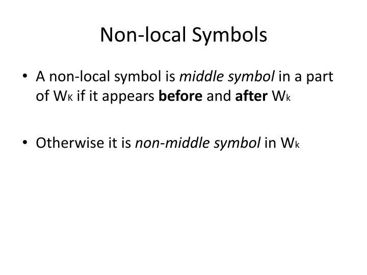 Non-local Symbols