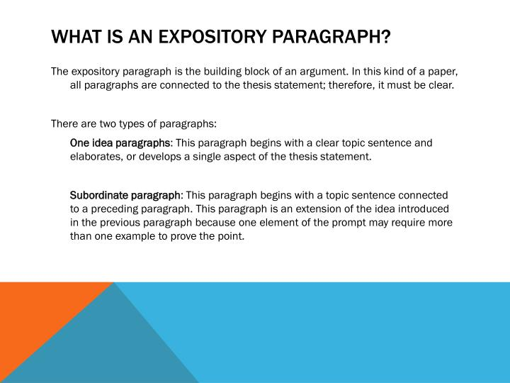 What is an Expository Paragraph?