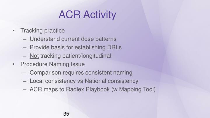 ACR Activity
