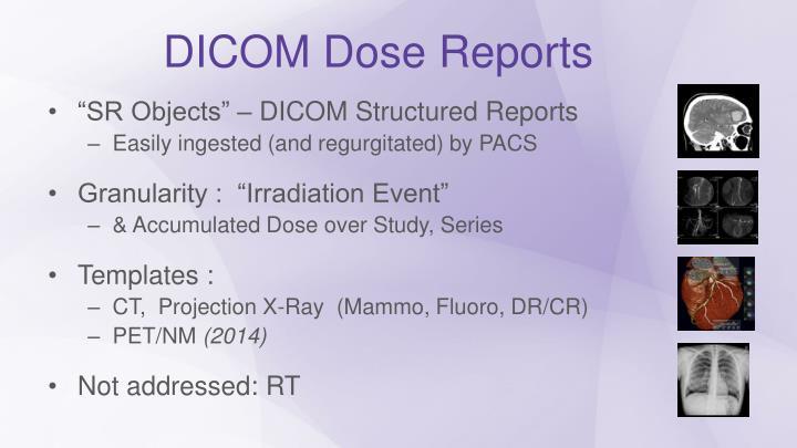 DICOM Dose Reports