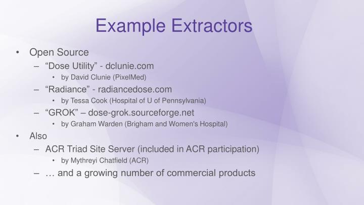 Example Extractors