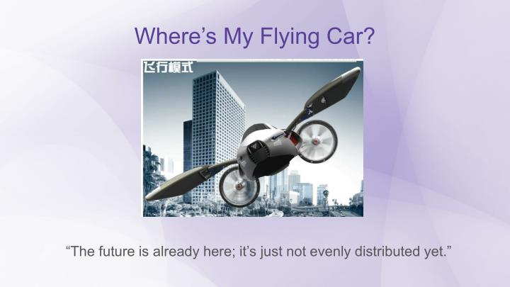 Where's My Flying Car?
