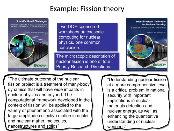 Example: Fission theory