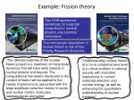 example fission theory