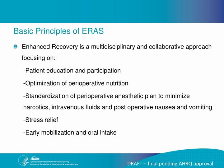 Basic Principles of ERAS