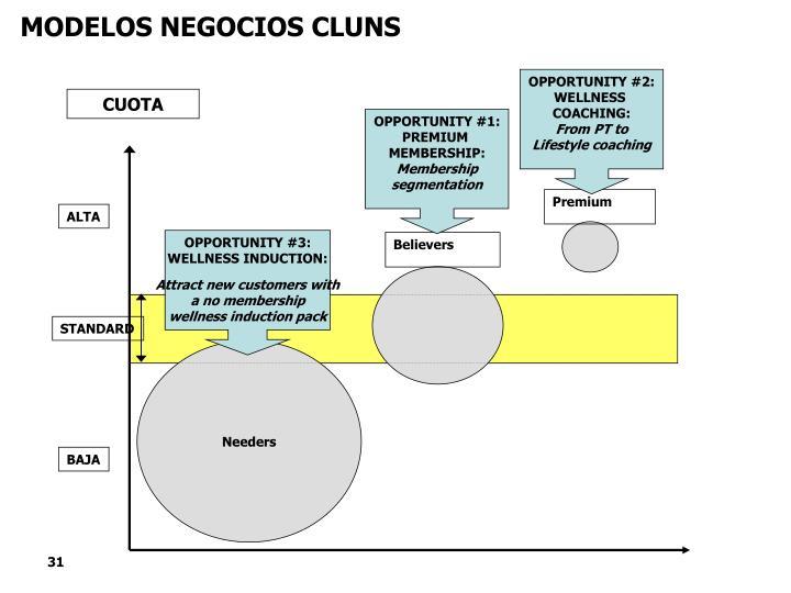 MODELOS NEGOCIOS CLUNS