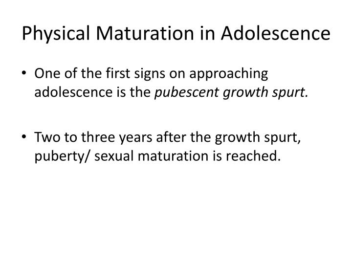 Sexual Development & Puberty Adolescence - Sexual