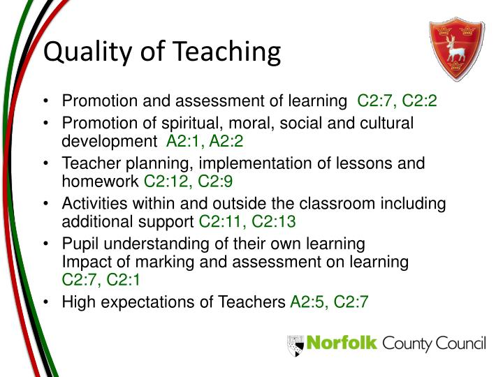 Quality of Teaching