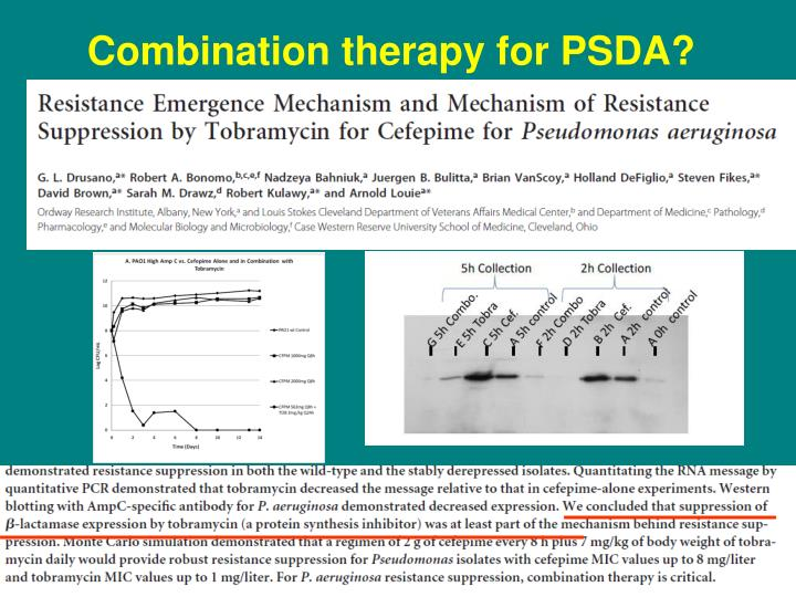 Combination therapy for PSDA?