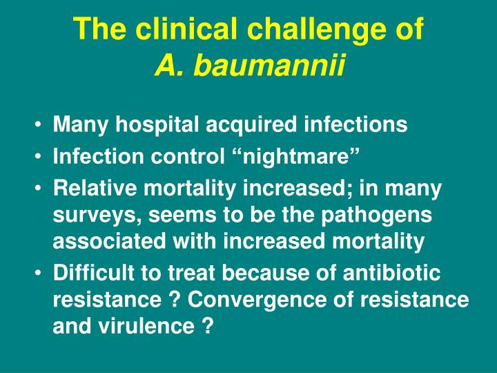 The clinical challenge of