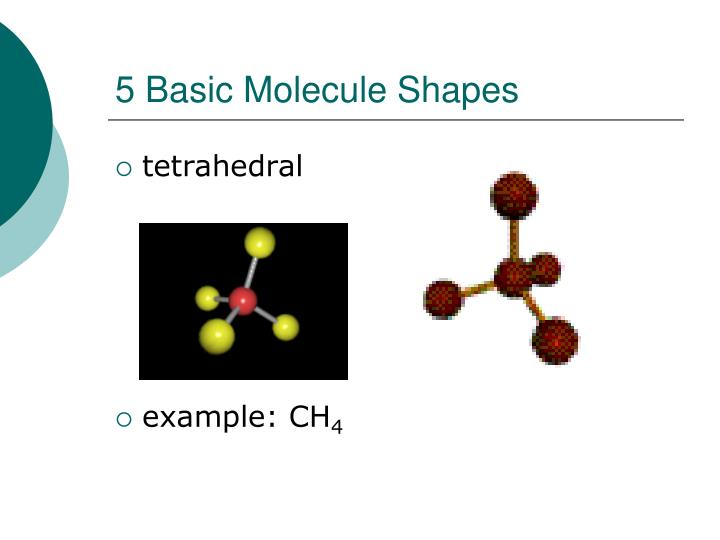 5 Basic Molecule Shapes