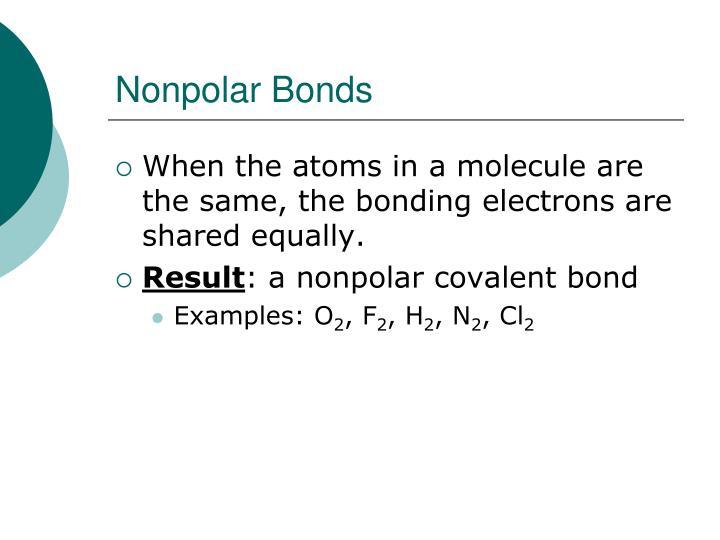 Nonpolar Bonds