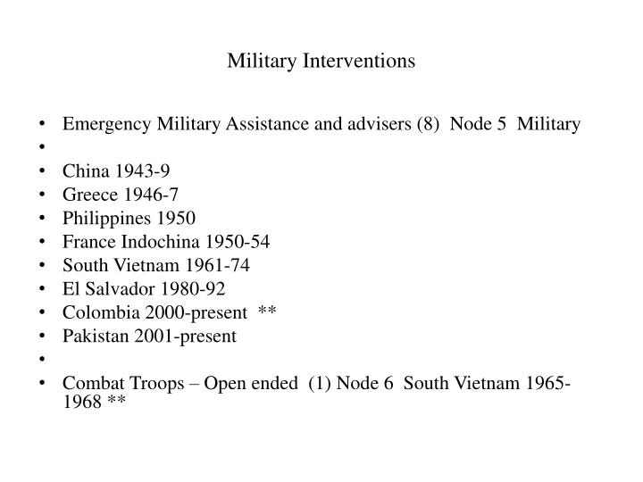 Military Interventions