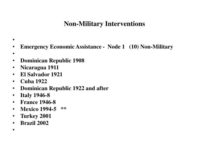 Non-Military Interventions