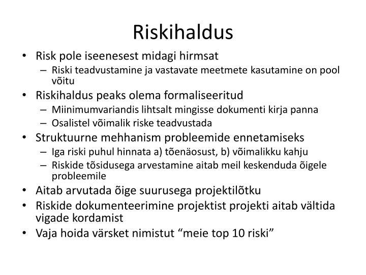 Riskihaldus