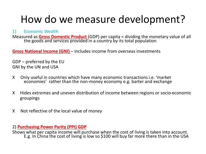 How do we measure development?