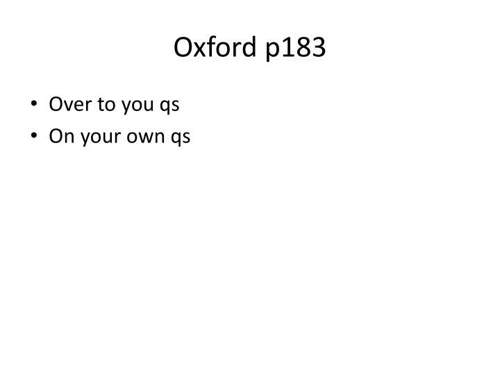 Oxford p183