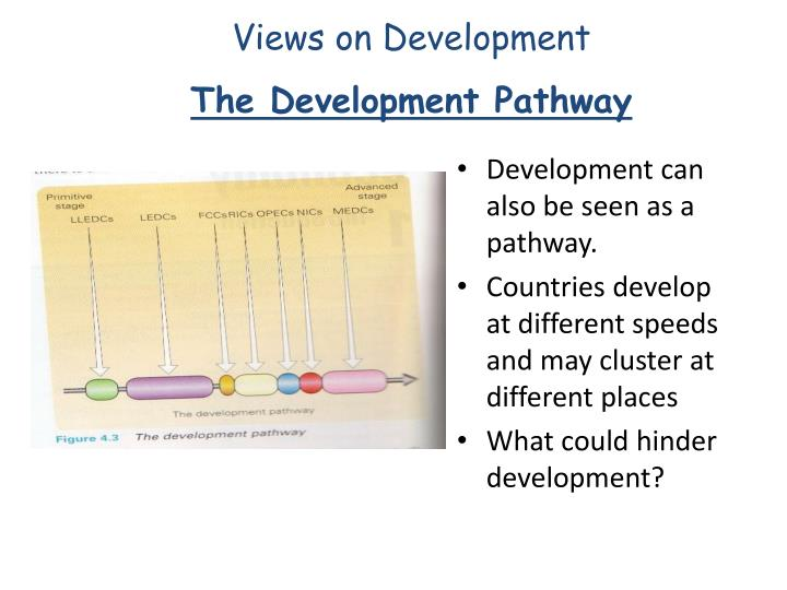 Development can also be seen as a pathway.