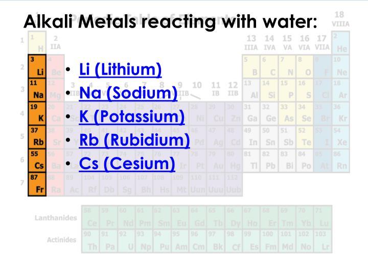 Alkali Metals Related Keywords - Alkali Metals Long Tail ...