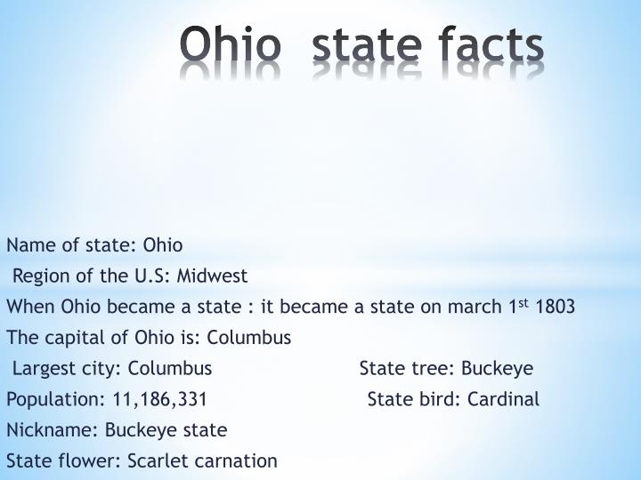 Ohio  state facts