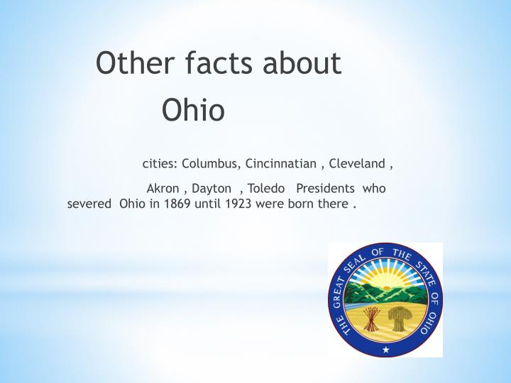 Other facts about