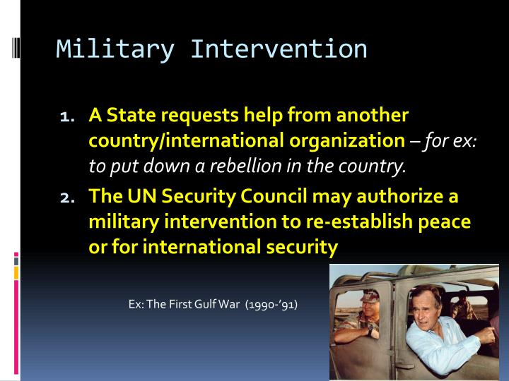 humanitarian intervention and interference in another Any type of external military intervention on the territory of another state  exclude interference from abroad,  humanitarian intervention simply signals to its.