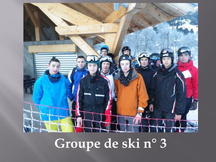 Groupe de ski n°3